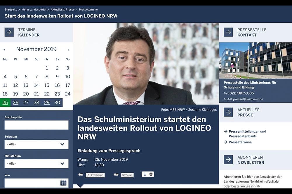LOGINEO NRW - Pressetermin